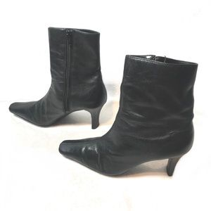 Steve Madden TINA Leather Ankle Heel Boots